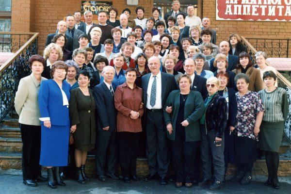 2001 встреча с Воробьевым А.П., Ворониным Н.А. (сп Уральские самоцветы)