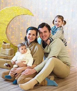 Семья Додоновых Анастасии и Сергеея